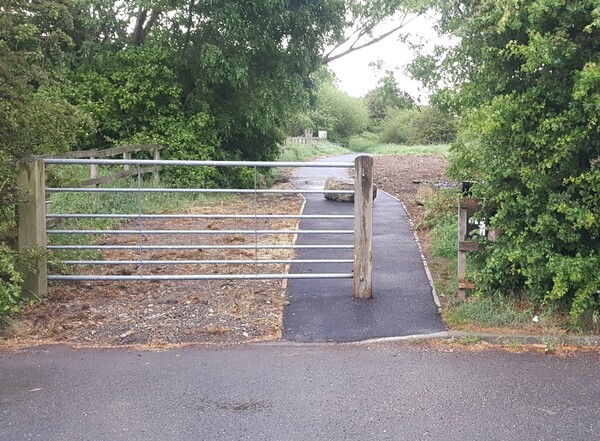 The photo for Inaccessible gate on new path to Clifton Backies.