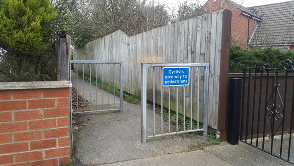 The photo for Disabled cyclists - You Shall Not Pass!.